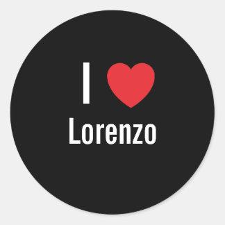 I love Lorenzo Round Sticker