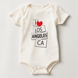 I Love Los Angeles CA Baby Bodysuit