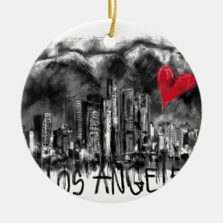 I love Los Angeles Ceramic Ornament