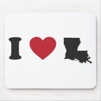 I Love Louisiana Mouse Pad