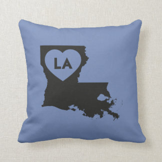 I Love Louisiana State Pillow