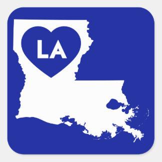 I Love Louisiana State Stickers