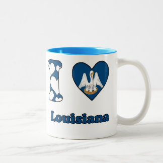 I love Louisiana Two-Tone Coffee Mug