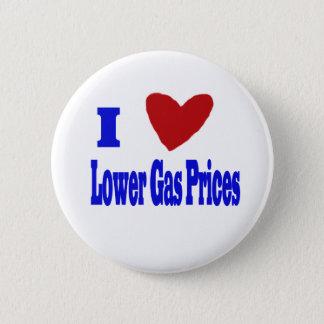 i love lower gas prices 2 inch round button