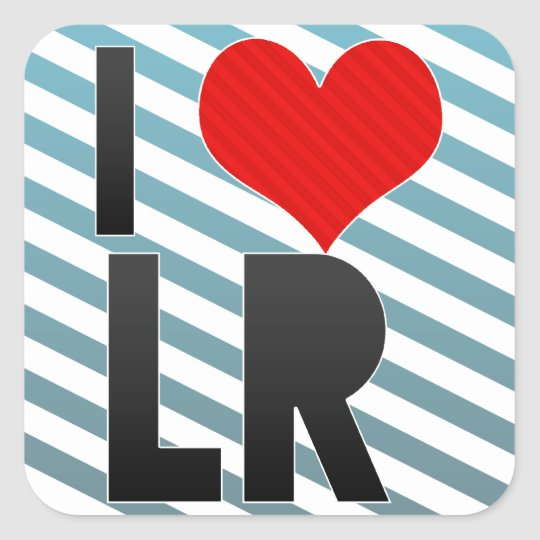I Love LR Square Sticker