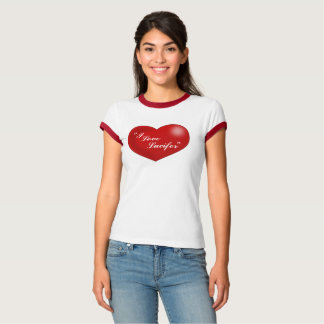 """I Love Lucifer "" Lucy style heart T-Shirt"