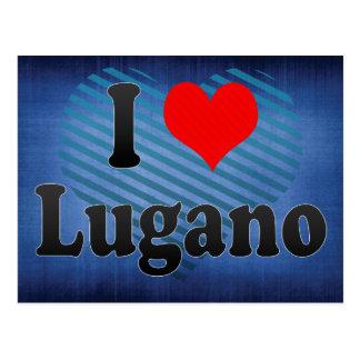 I Love Lugano, Switzerland Postcard