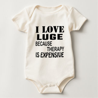 I Love Luge Because Therapy Is Expensive Baby Bodysuit