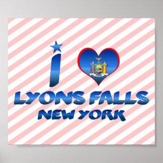 I love Lyons Falls, New York Print