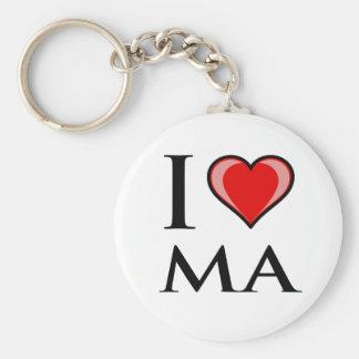 I Love MA - Massachusetts Keychain