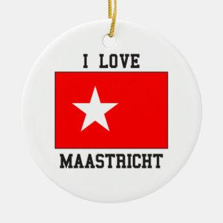 I Love Maastricht Ceramic Ornament