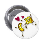 I love mac and cheese 2 inch round button