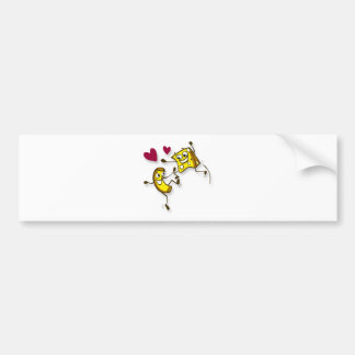 I love mac and cheese bumper sticker