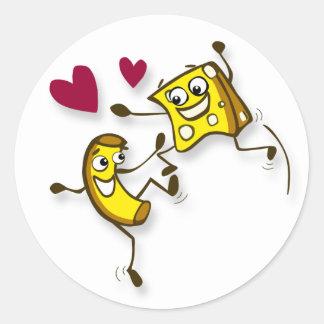 I love mac and cheese round sticker