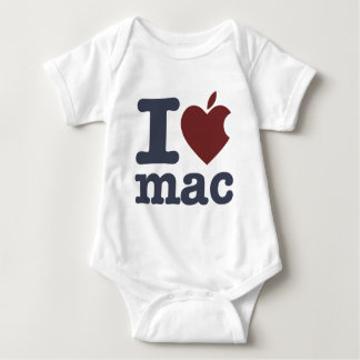 I Love Mac Baby Bodysuit