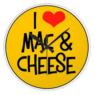 I Love Mac n Cheese Wall Clock