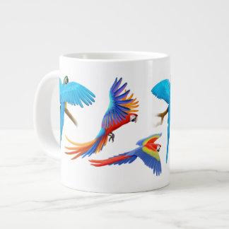 I Love Macaw Parrots Large Coffee Mug