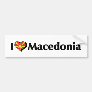 I Love Macedonia Flag Bumper Sticker