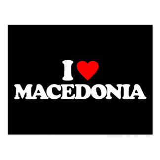 I LOVE MACEDONIA POSTCARD