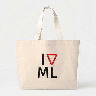 I love machine learning large tote bag