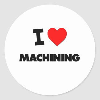 I Love Machining Classic Round Sticker