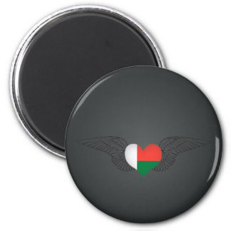 I Love Madagascar -wings 2 Inch Round Magnet