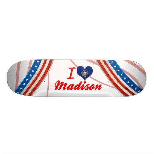 I Love Madison, New Hampshire Skate Board Deck