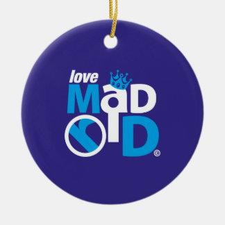 I Love Madrid Best Ever Club Ceramic Ornament