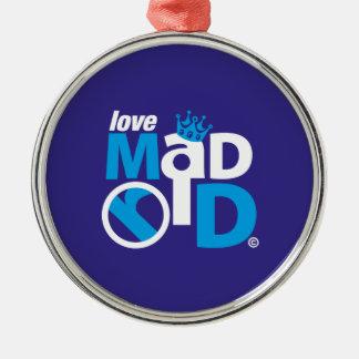 I Love Madrid Best Ever Club Metal Ornament