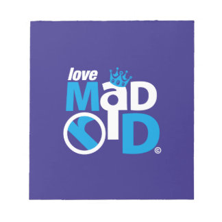 I Love Madrid Best Ever Club Notepad