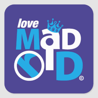 I Love Madrid Best Ever Club Square Sticker