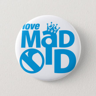 I Love Madrid Crown & Sign ED. 2 Inch Round Button