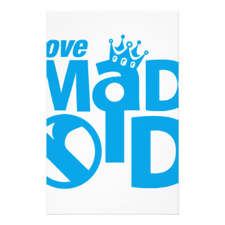 I Love Madrid Crown & Sign ED. Customized Stationery