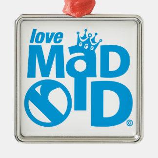 I Love Madrid Crown & Sign ED. Metal Ornament