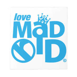 I Love Madrid Crown & Sign ED. Notepad