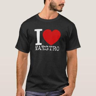 I Love Maestro (White) T-Shirt