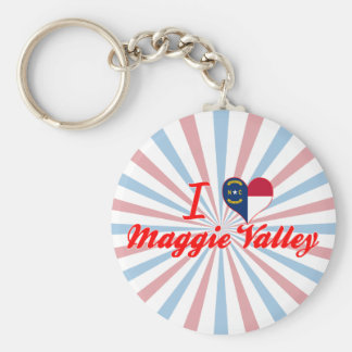 I Love Maggie Valley, North Carolina Keychain