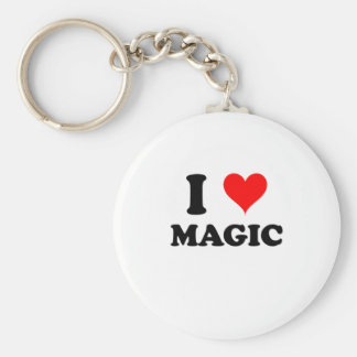 I Love Magic Keychain