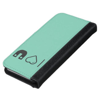 I Love Magnetic Forces iPhone 6 Wallet Case
