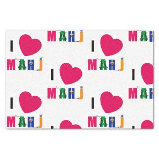 I Love Mahj Tissue Paper