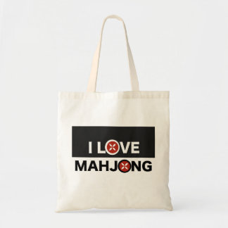 I Love Mahjong O Replaced with MJ Flower Tote Bag