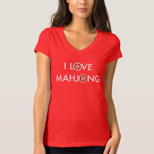 I Love Mahjong -Wheel Replaces O T-Shirt