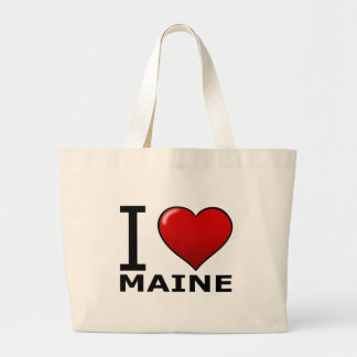 I LOVE MAINE LARGE TOTE BAG