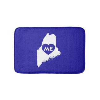 I Love Maine State (White) Bath Mat