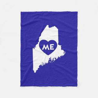 I Love Maine State (White) Blanket