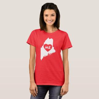 I Love Maine State (White) Women's Shirts