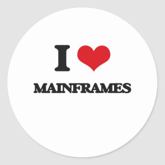 I Love Mainframes Classic Round Sticker