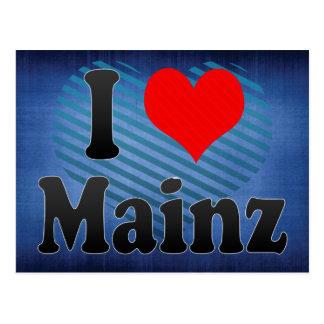 I Love Mainz, Germany Postcard