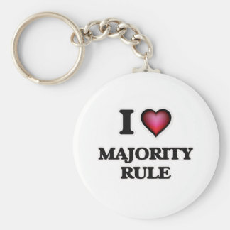I Love Majority Rule Keychain