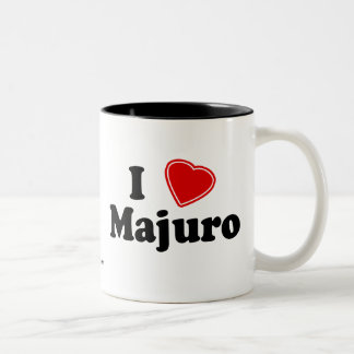 I Love Majuro Two-Tone Coffee Mug